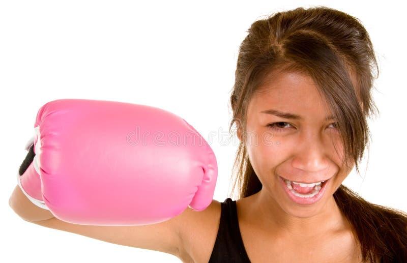 Download Boxeo de la muchacha imagen de archivo. Imagen de animado - 7276567
