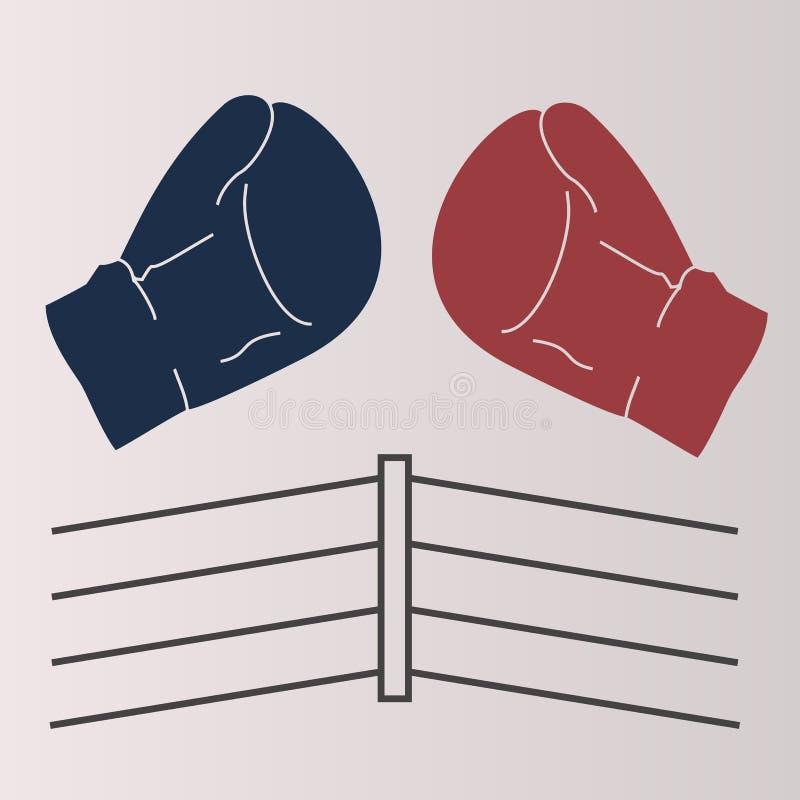 Boxeo del anillo stock de ilustración