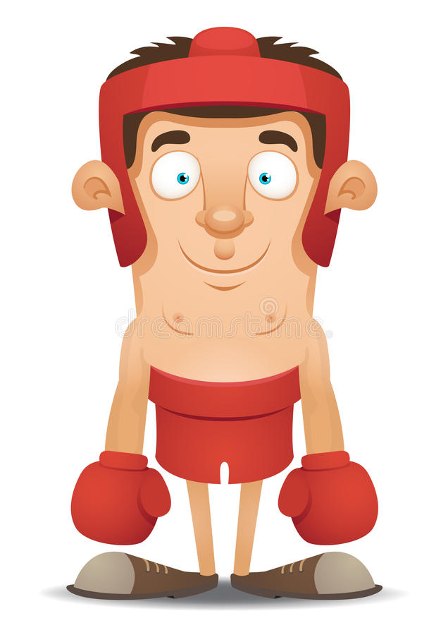 Boxer royalty free illustration