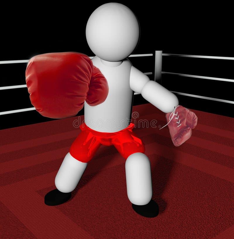 boxer illustrazione vettoriale