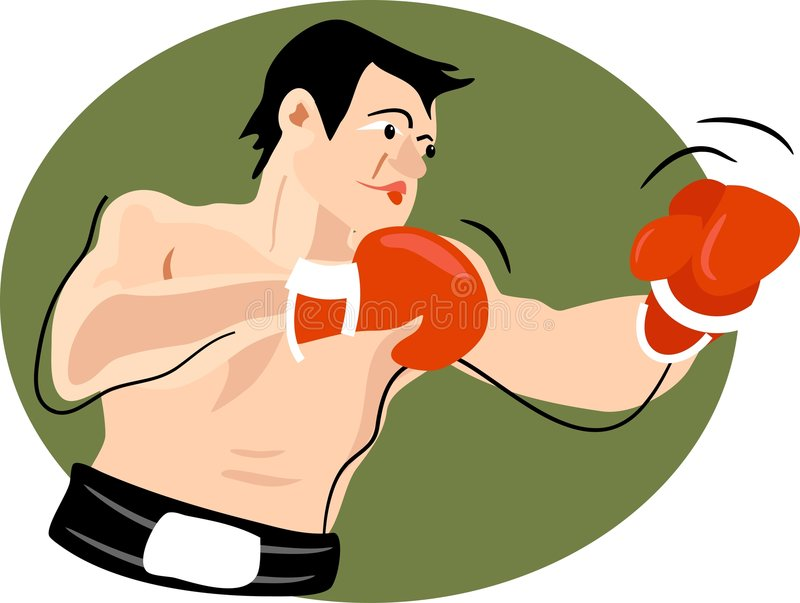 Download Boxer stock vector. Illustration of challenge, clipart, attack - 43754