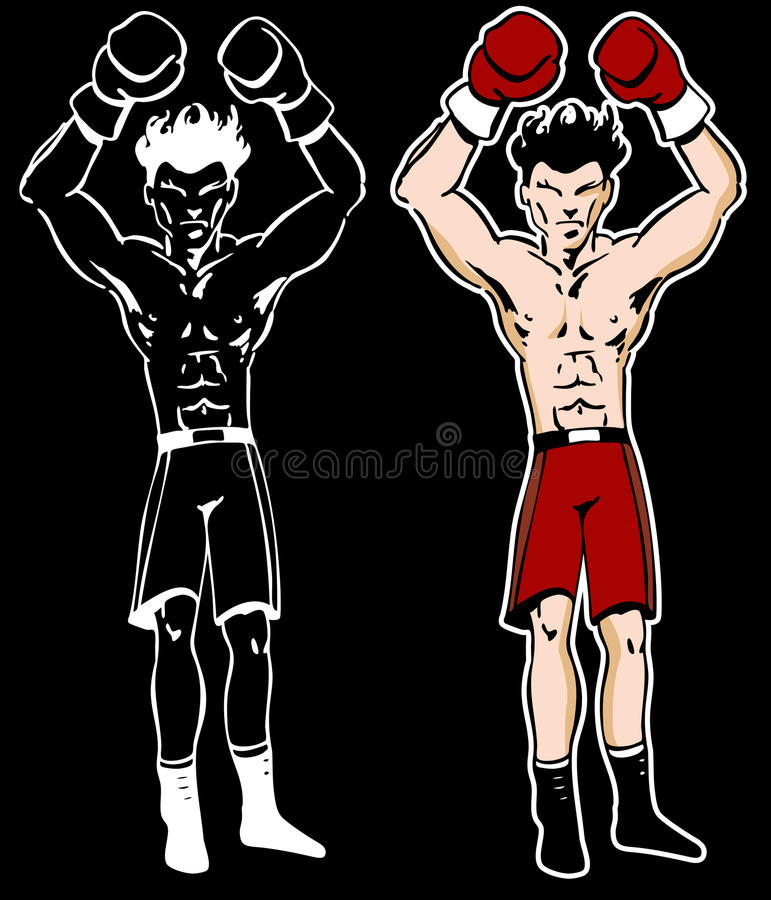 Download Boxer With Arms Raised Cartoon Character Stock Vector - Image: 17058848