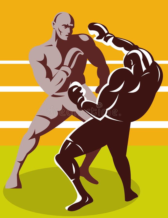 Download Boxer Connecting A Knockout Stock Vector - Image: 7932476