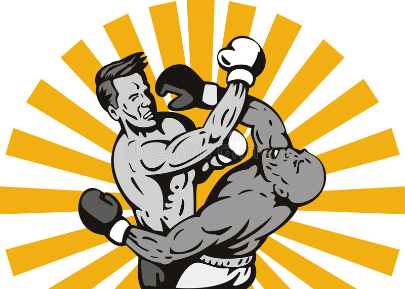 Download Boxer Connecting A Knockout Stock Vector - Image: 7932497