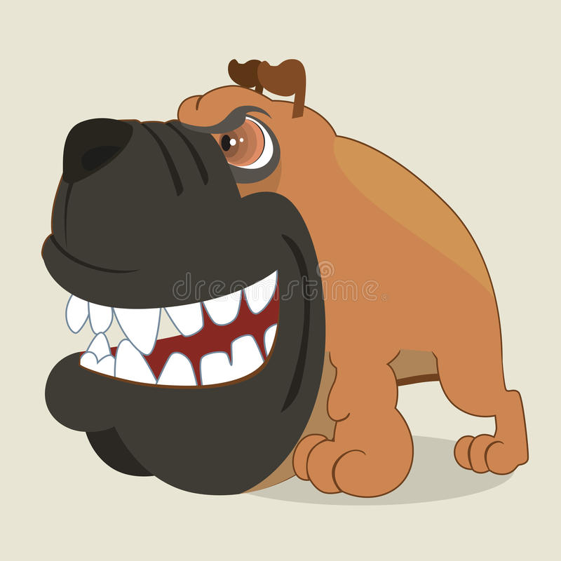 Download Boxer dog stock vector. Image of view, wicked, grin, legged - 30470114
