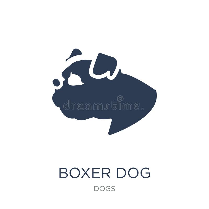 Boxer dog icon. Trendy flat vector Boxer dog icon on white background from dogs collection vector illustration