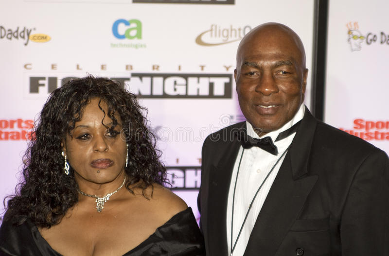 Boxer Ernie Shavers at Celebrity Fight Night royalty free stock image