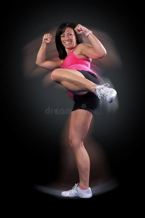 boxer fitness kick στοκ εικόνες με δικαίωμα ελεύθερης χρήσης