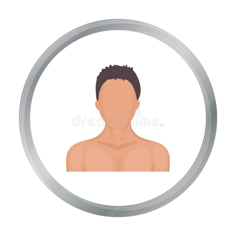 Boxer icon in cartoon style isolated on white background. Boxing symbol stock vector illustration. stock illustration