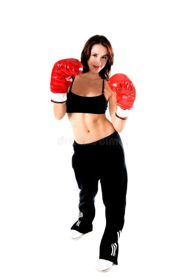 boxer kobieta zdjęcie stock