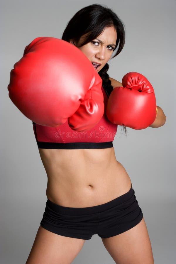boxer kobieta fotografia stock