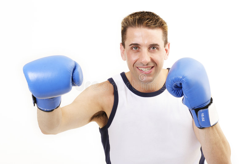 Boxer punch 2 royalty free stock photos