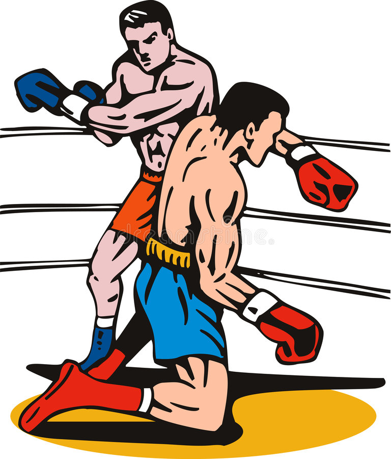 Download Boxer punching a knockout stock vector. Image of fight - 7194225