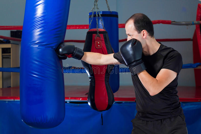 Download Boxer Punching A Sand Bag With Front Hand Stock Image - Image: 21929777