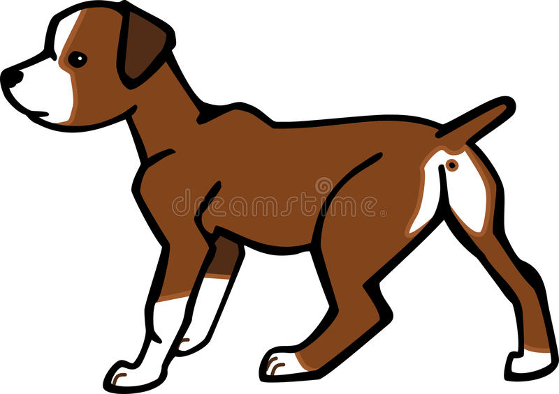 Boxer Puppy vector illustration