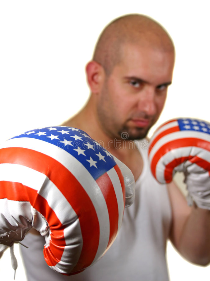 Download Boxer With Red Gloves Royalty Free Stock Photos - Image: 2429548