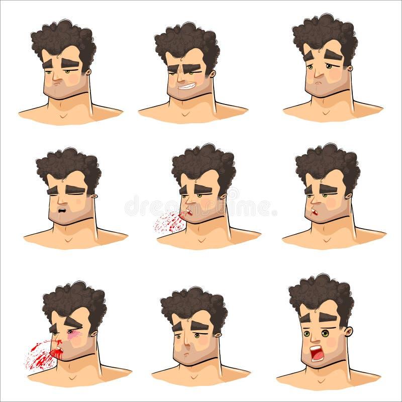Boxer ` s Gesicht lizenzfreie abbildung