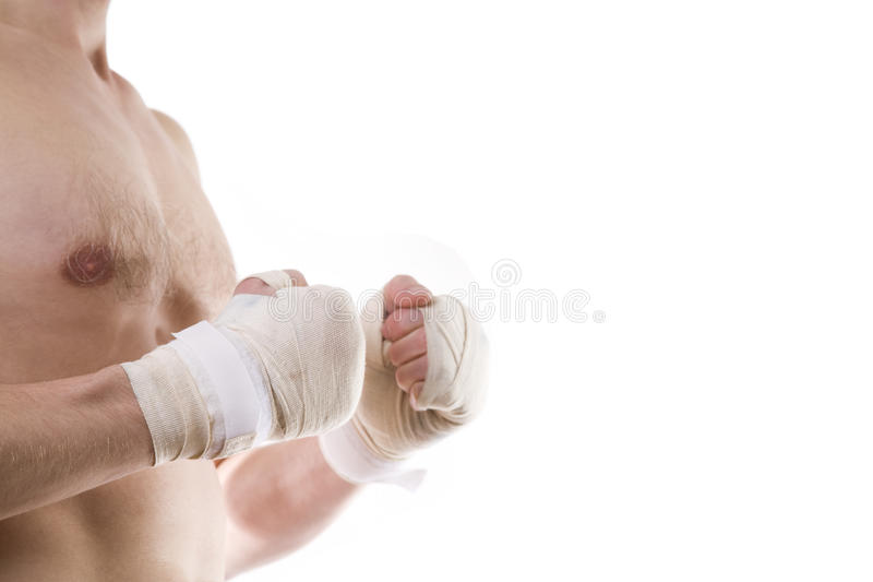 Boxer's knuckles stock photo