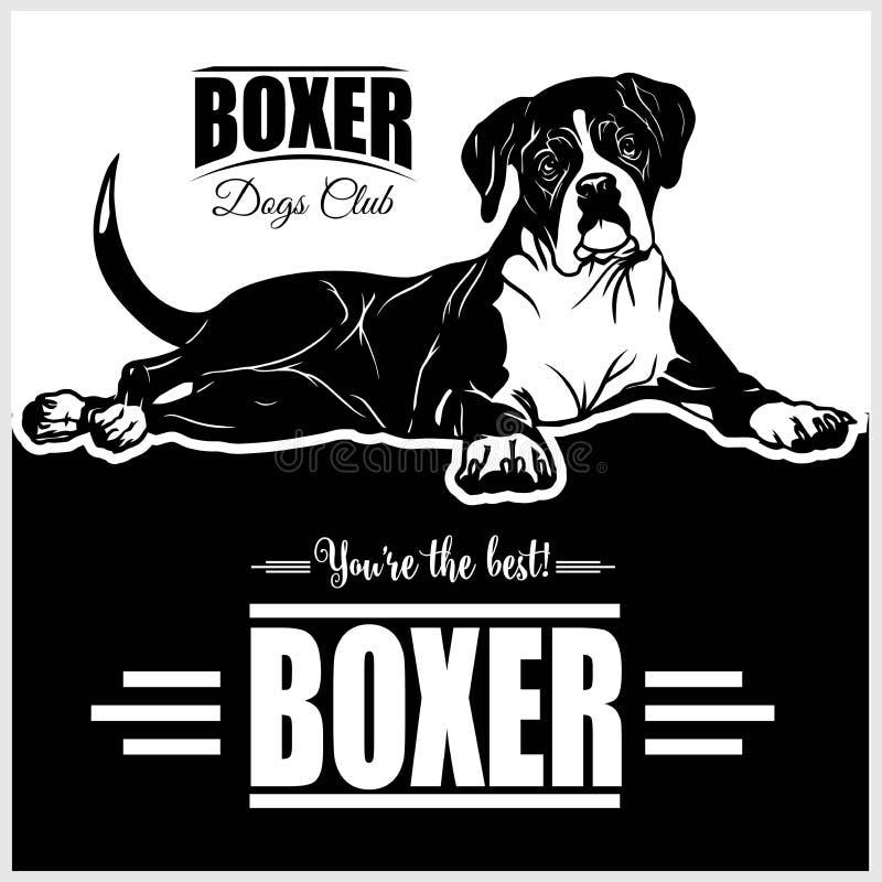 Boxer - vector illustration for t-shirt, logo and template badges stock illustration