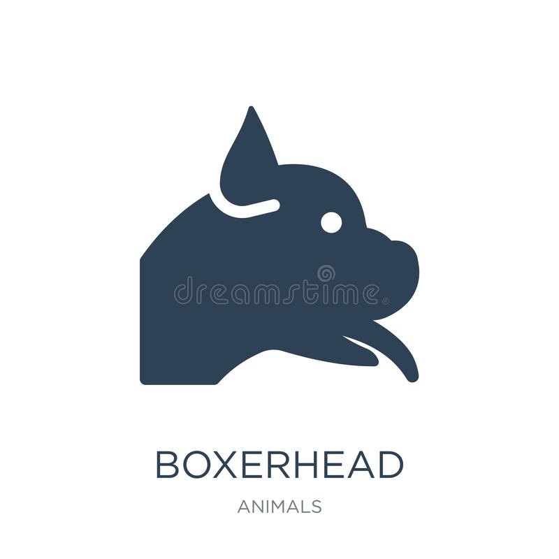 boxerhead icon in trendy design style. boxerhead icon isolated on white background. boxerhead vector icon simple and modern flat vector illustration