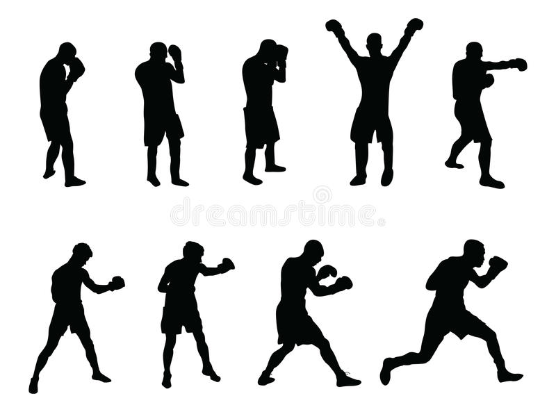 Download Boxers stock illustration. Image of fall, black, protection - 11149560
