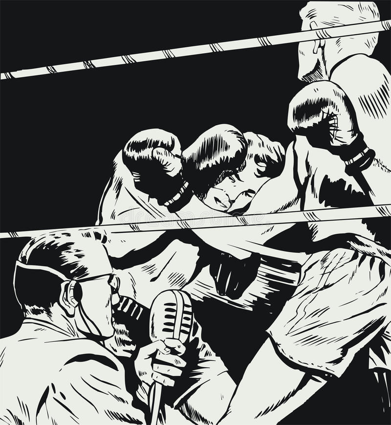 Boxers In A Fight Royalty Free Stock Photo