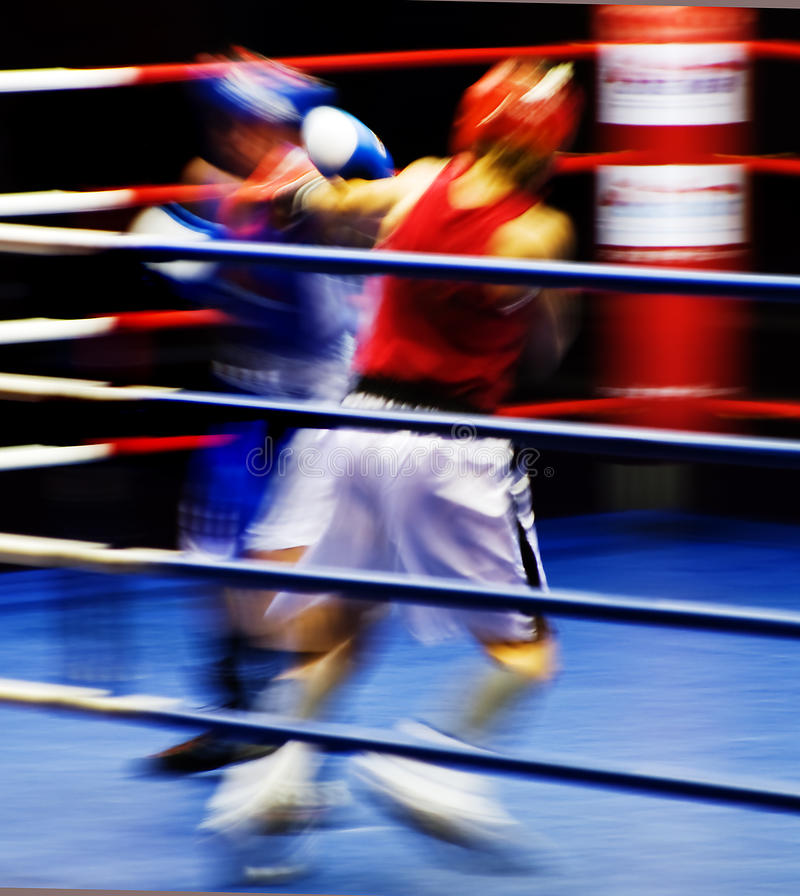 Boxers At The Ring Royalty Free Stock Photography