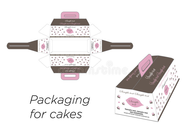 Download Boxes for the cake stock vector. Illustration of handle - 39301010