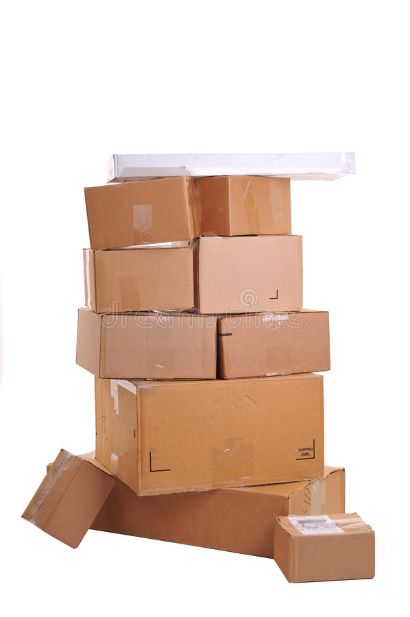 Free Boxes Carelessly Stacked On Top Of Each Other Royalty Free Stock Photos - 19459118