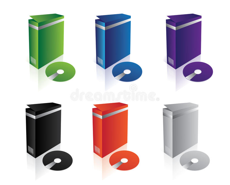 boxes clean software vector απεικόνιση αποθεμάτων