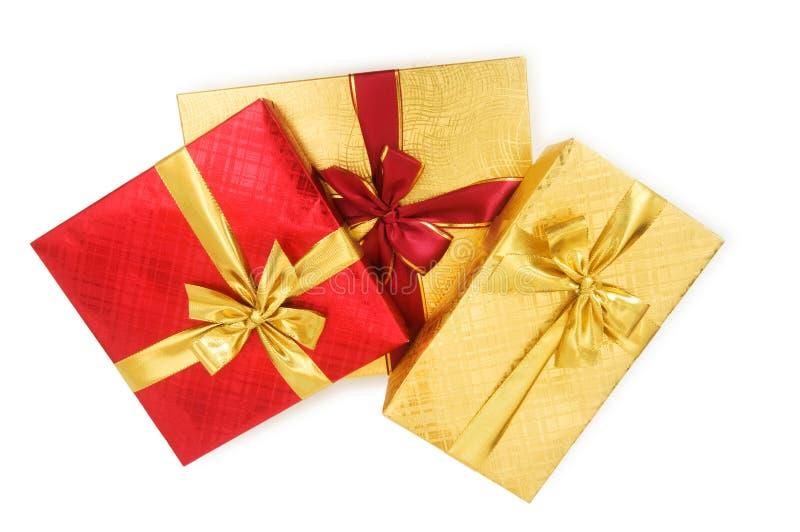 boxes den isolerade gåvan arkivfoton