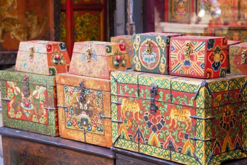 boxes den nepalese traditionella billig prydnadssak arkivfoton