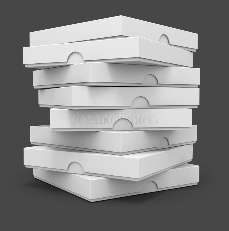 boxes emballage pizzawhite stock illustrationer
