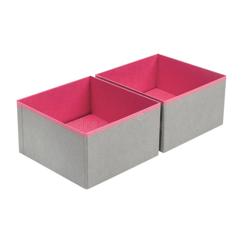 Boxes. For folding things on a white background royalty free stock images