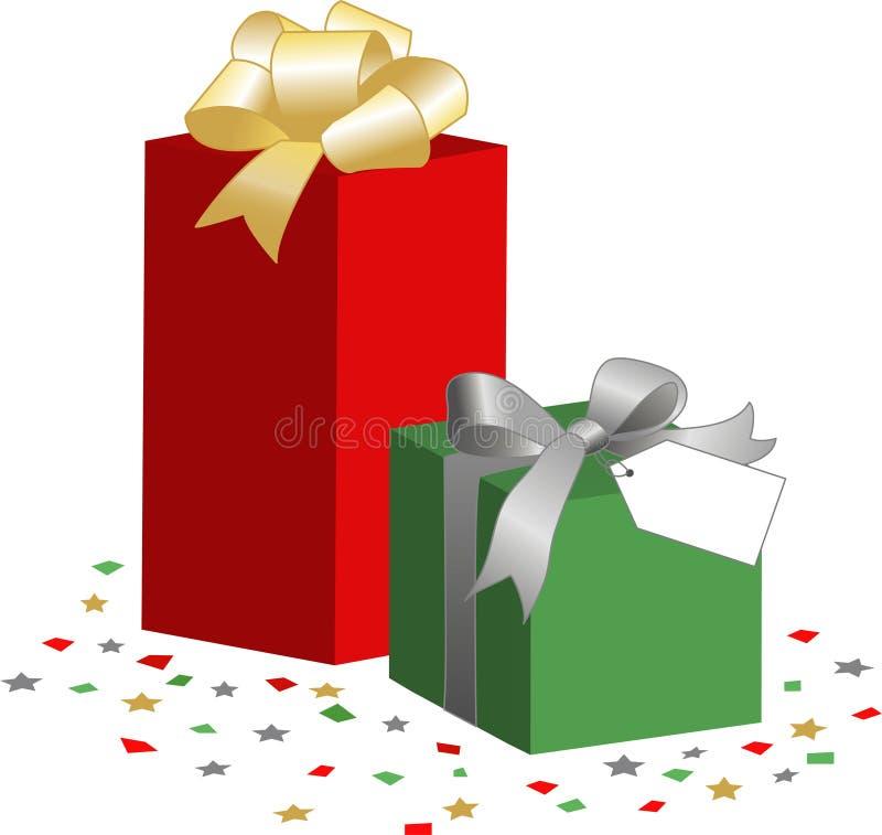 boxes gåvan stock illustrationer