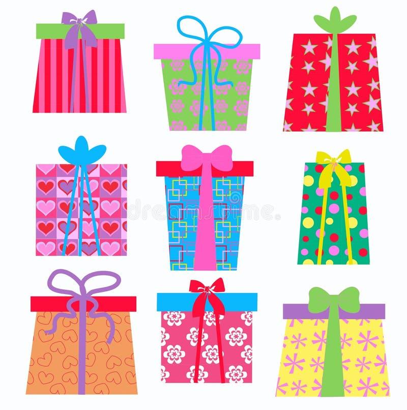 boxes gåvan royaltyfri illustrationer