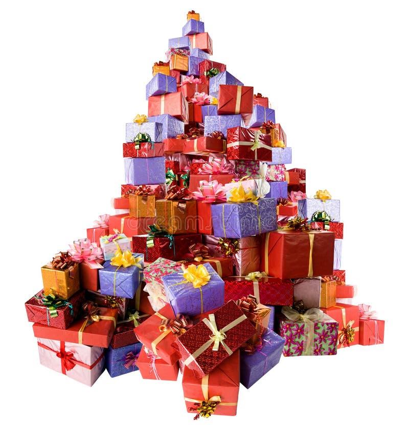 boxes gåvan många royaltyfri bild