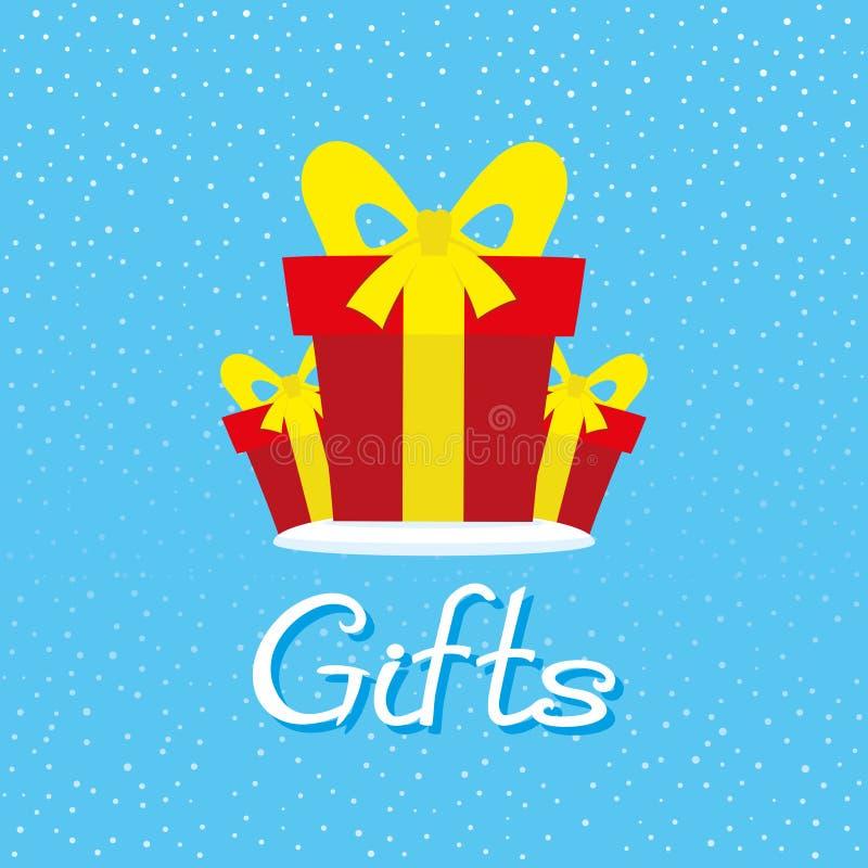 boxes gåvared royaltyfri illustrationer