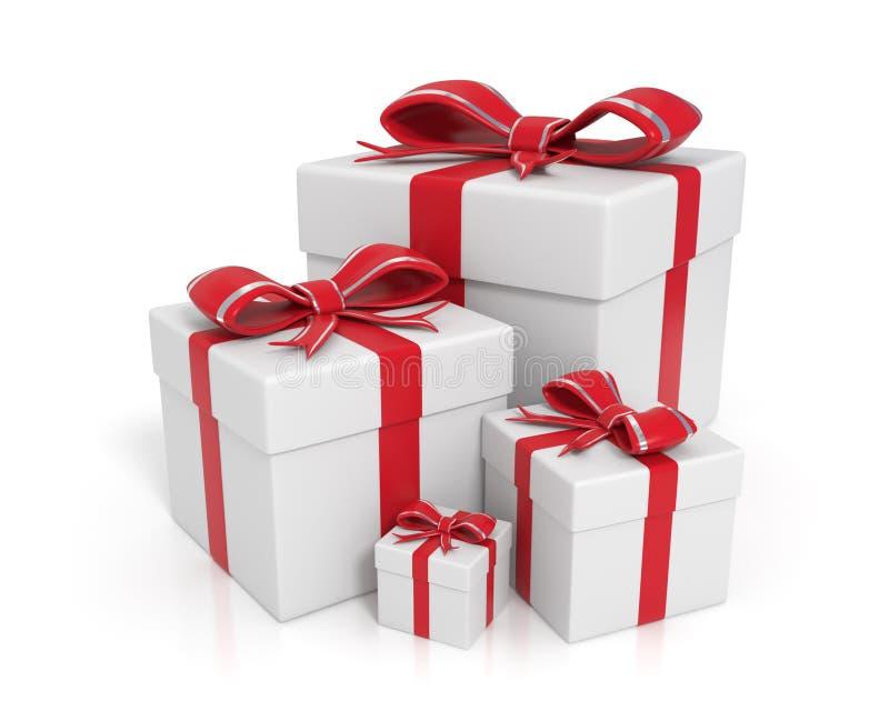 boxes gift white 库存例证