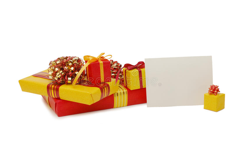 Boxes With Gifts Stock Image