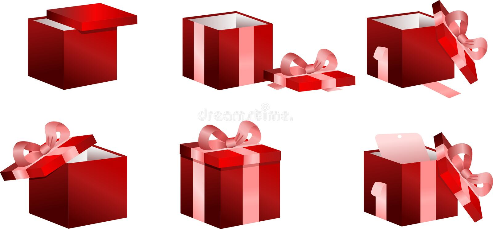 Boxes With Gifts Set Royalty Free Stock Photos