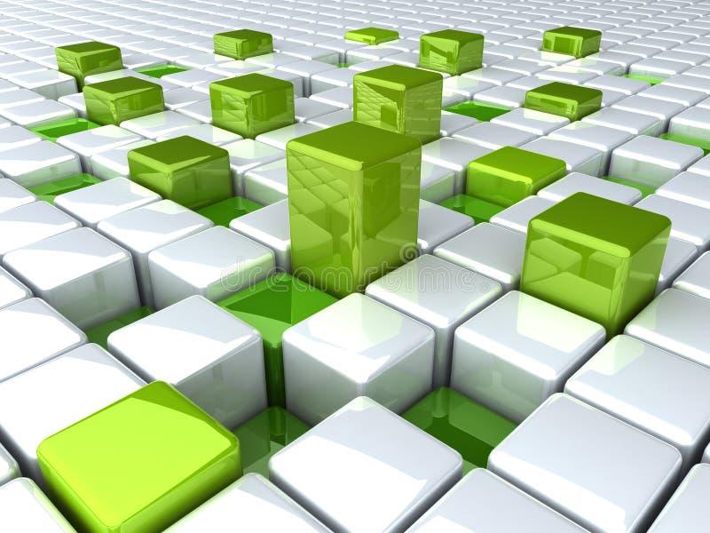 Boxes_green illustrazione vettoriale