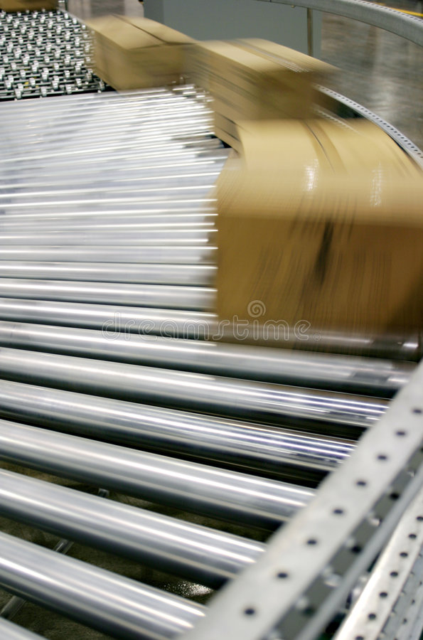 Free Boxes On A Conveyor Royalty Free Stock Photo - 6546175