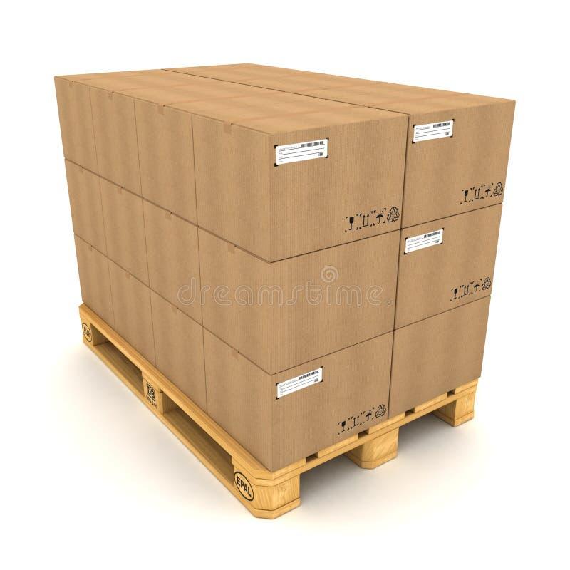 boxes papp stock illustrationer