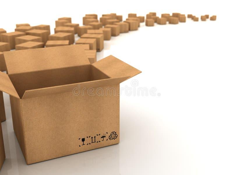 boxes papp vektor illustrationer