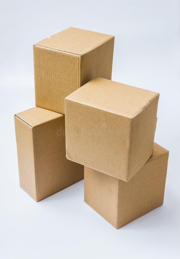 boxes pappgodaprodukter royaltyfria foton