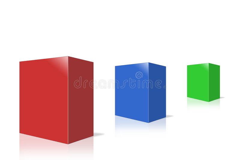 boxes produkten stock illustrationer