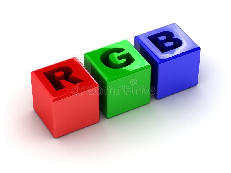 boxes rgb stock illustrationer