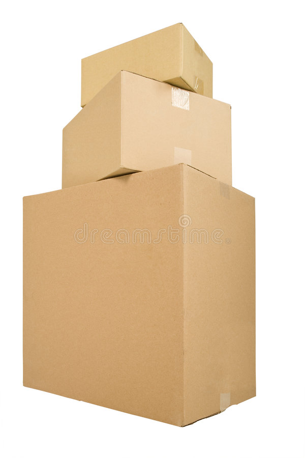 boxes shipping three στοκ φωτογραφίες με δικαίωμα ελεύθερης χρήσης