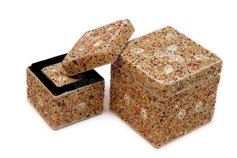 boxes smycken royaltyfri bild